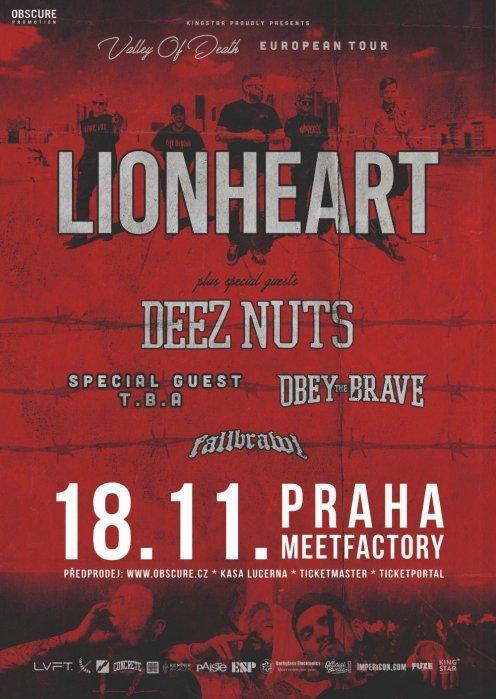 LIONHEART, DEEZ NUTS, OBEY THE BRAVE, FALLBRAWL