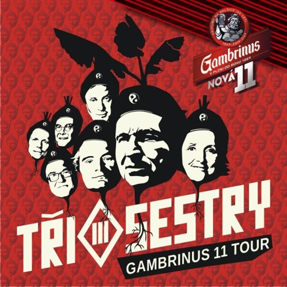 Tři Sestry - Gambrinus 11 tour + E!E, Doctor P.P., Pirates of the Pubs - Nový Knín